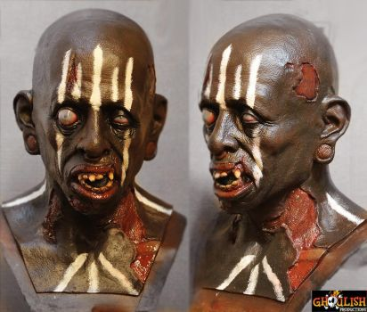 african shaman possessed zombi by glaucolonghi