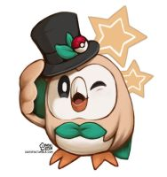 Dapper Rowlet by daisyein