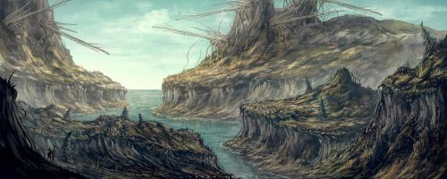 cliffs of zawa by landobaldur