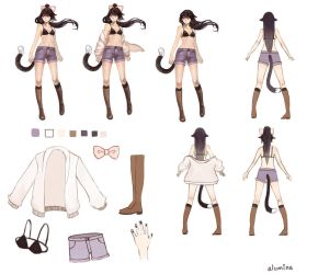 Commission - Alumina Character Sheet by cyrusHisa