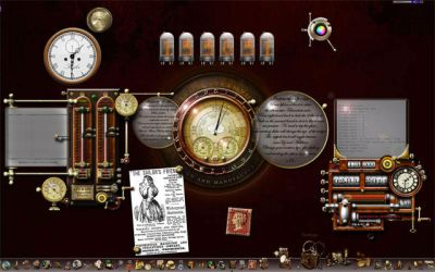 Steampunk Windows Desktop by yereverluvinuncleber