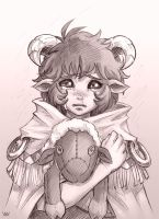 Crybaby Sheep by Maxa-art