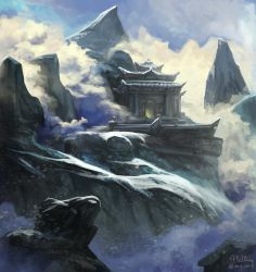 Mountaintop Temple by mcgmark