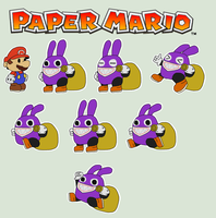 Nabbit (Paper Mario style) by ericgl1996