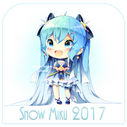 Snow Miku '17 + SPEEDPAINT by MiruukiiART