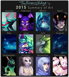 2015 Summary of Art by TheRiversEdge