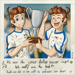 Old photo - Soccer Cup by Elwensa