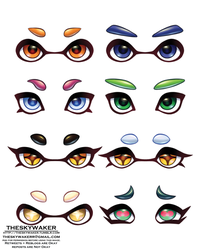 Splatoon Eyes (7 1 2018) by theskywaker