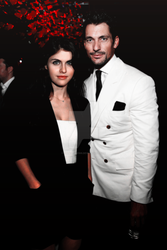 David Gandy and Alexandra Daddario