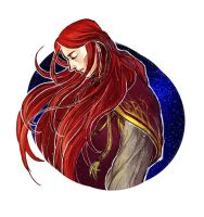 Maedhros under the starry sky by S-Shanshan