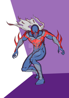Spiderman 2099 by omkarpatole