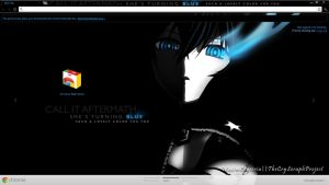 Chrome Theme BRS: Black Rock Shooter by seraphimax