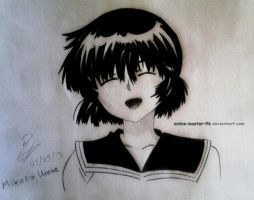 Third Anime drawing ever :D Mikoto Urabe by anime-master-96
