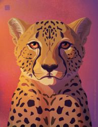 Cheetah Weeping by Wolfberry-J