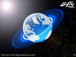 Simple Blue Planet by gfx-micdi-designs