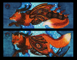 Caterpillar Fox Bookmark 2 by Mohn-Fuchs