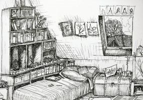 My Home - Ink but not Inktober cos it's old by FeanorFeuergeist