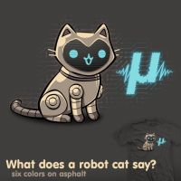 What does a robot cat say? - tee by InfinityWave