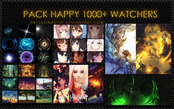 Pack happy 1000+ watchers by LarAmb