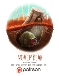 Day 1442. Novembear by Cryptid-Creations