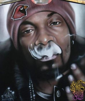 Snoop Dogg Airbrushed T-shirt by PrimoOne