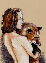 Fox Lady2 by dessinateur777