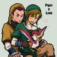 Pipit x Link by toastmesilly