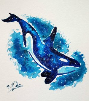 Blue orca by Eif-ka