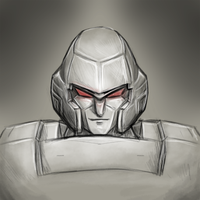G1 Megatron quick sketch by PyroDragoness