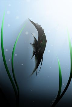 Castiel, Angelfish of the Lord by BLACKFEATHER-SIXX