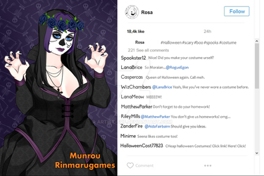 Hashtag-Day Of The Dead Rosa by ARTIST-SRF