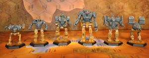 Table top Battletech Mechs by smtkelly