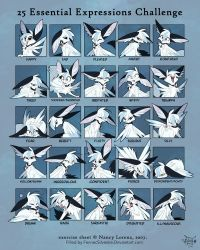 25 Expressions by FennecSilvestre