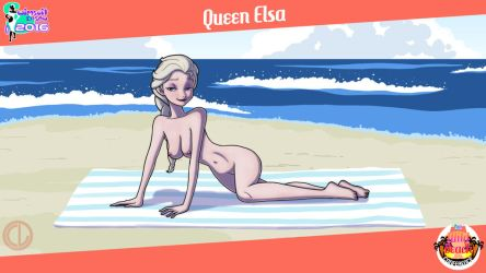 Swimsuit Season 2016 Round 1 Queen Elsa Nude by Chesty-Larue-Art