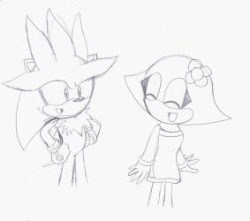 Silver and Lilly Doodle by SonicHearts