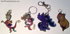MLP Keychains With Chains [Comissions open] by HelixWonder