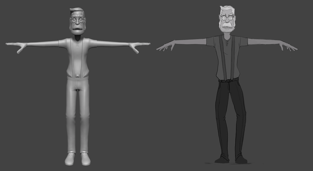 100 Days of Creating a Character - Rough Sculpt by Grimnor