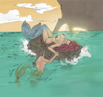 Mermaid drawing (digitally colored) by electronicdave