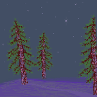 Day 15/16: A Starlit Forest. 25 Days of Pixels. by Cosmos-Centric
