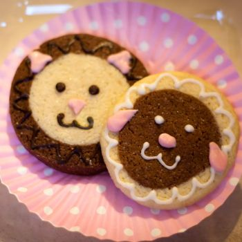 Lion and Lamb Cookies by theshaggyturtle