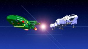 Thunderbird 2 and Eagle 1 by mainmission
