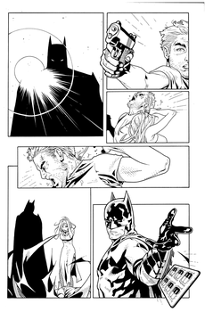 Batman Incorporated pg 19 corrected Inks by JosephLSilver