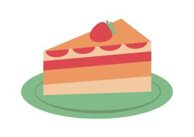 Strawberry-cake-on-a-plate by superawesomevectors