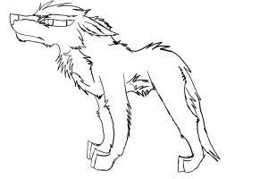 point commission line art wolf by useredstorm