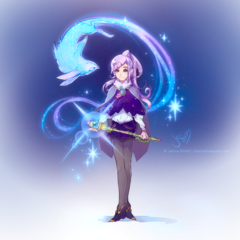 July 11 Magical Girl Sketch by Channel-Square