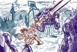 Mega Man Revolution- Pencils by n3v3rw1nt3rw0lf3