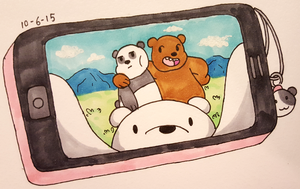 INKtober 2015 - day 6 - We Bare Bears by Copiani