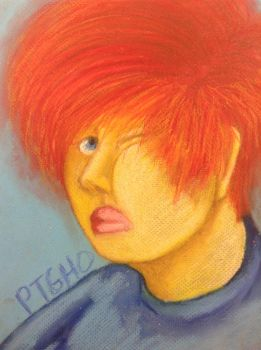 Oil pastel face in Primary colors by Rythianfan1120