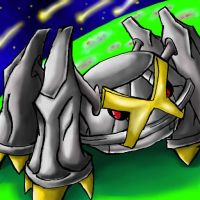 Shiny Metagross' Stare by TheKiwiSlayer