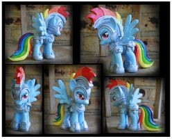 Commission - Jousting Rainbow Dash Custom by Nazegoreng